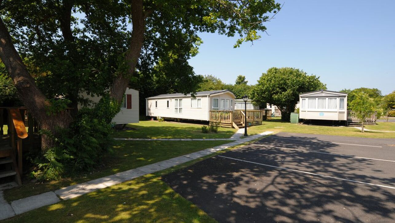 static caravans with dedicated parking
