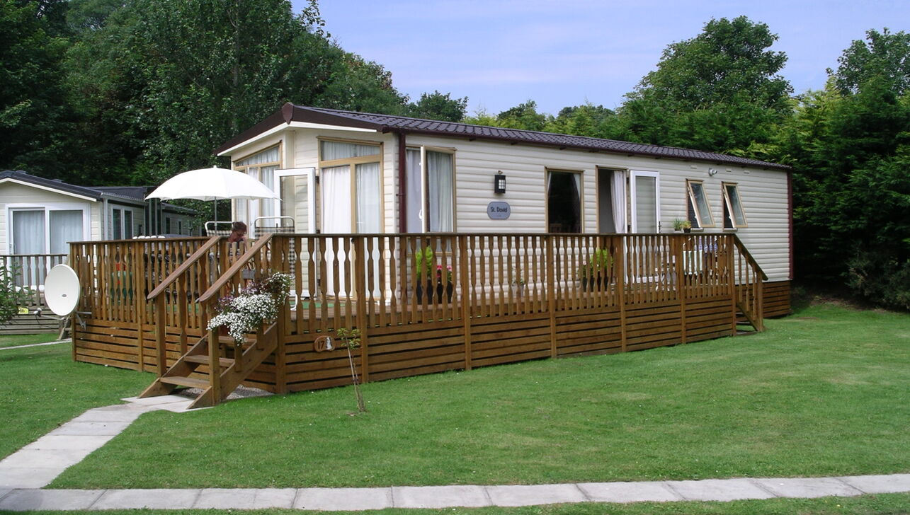 modern static caravans at  River Valley Country Park