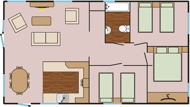 Oak Lodge (3 Bedroom) Floorplan